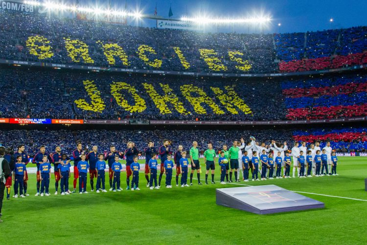 Barca's tribute to the late man shows how loved he was