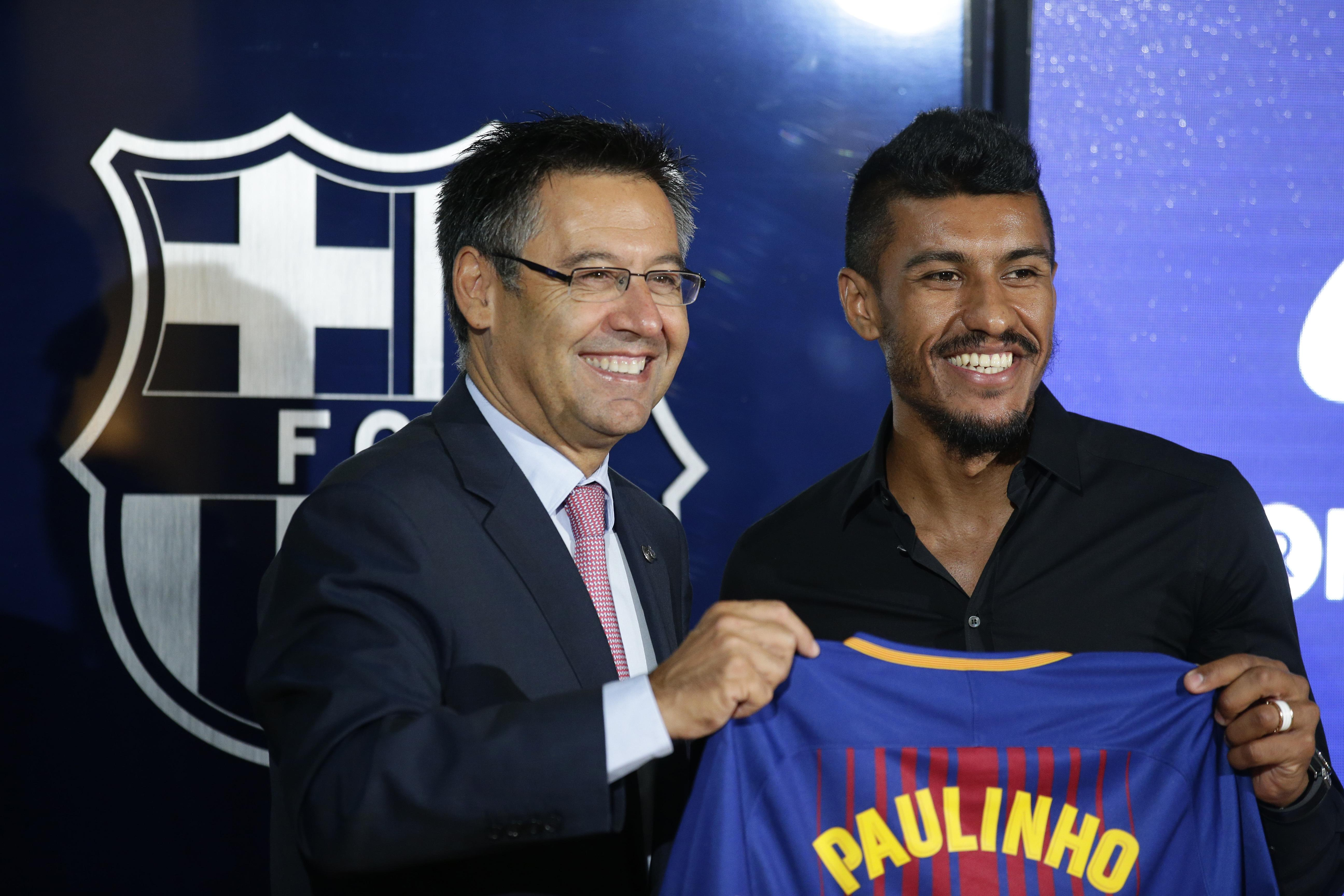The Brazilian was bizarrely snapped up by Barcelona