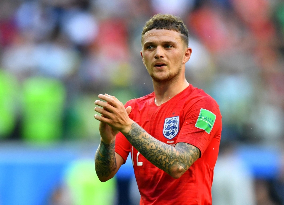 Trippier's best form has come in an England shirt in recent times