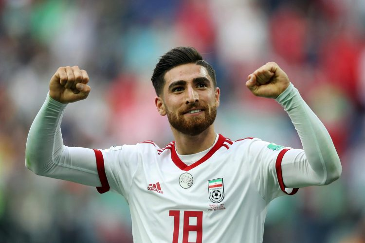 Brighton's main man seen here playing for Iran in the World Cup