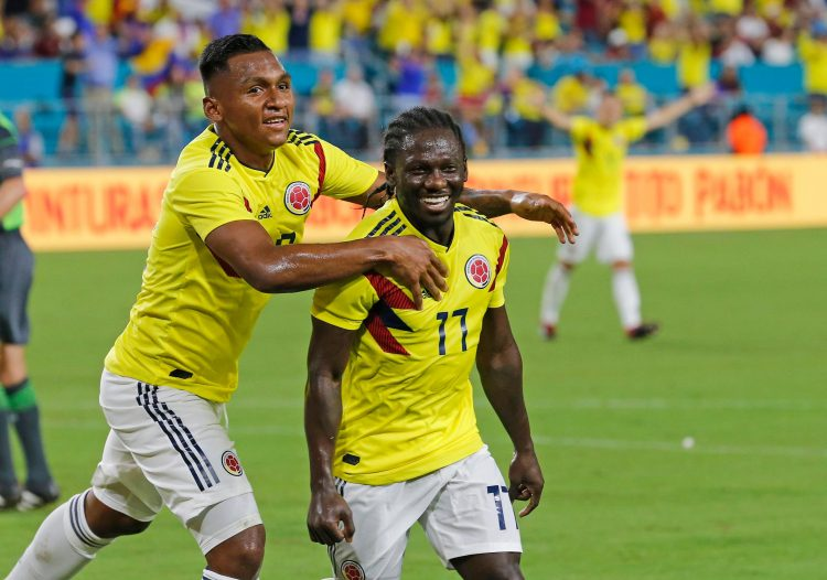 On debut for Colombia