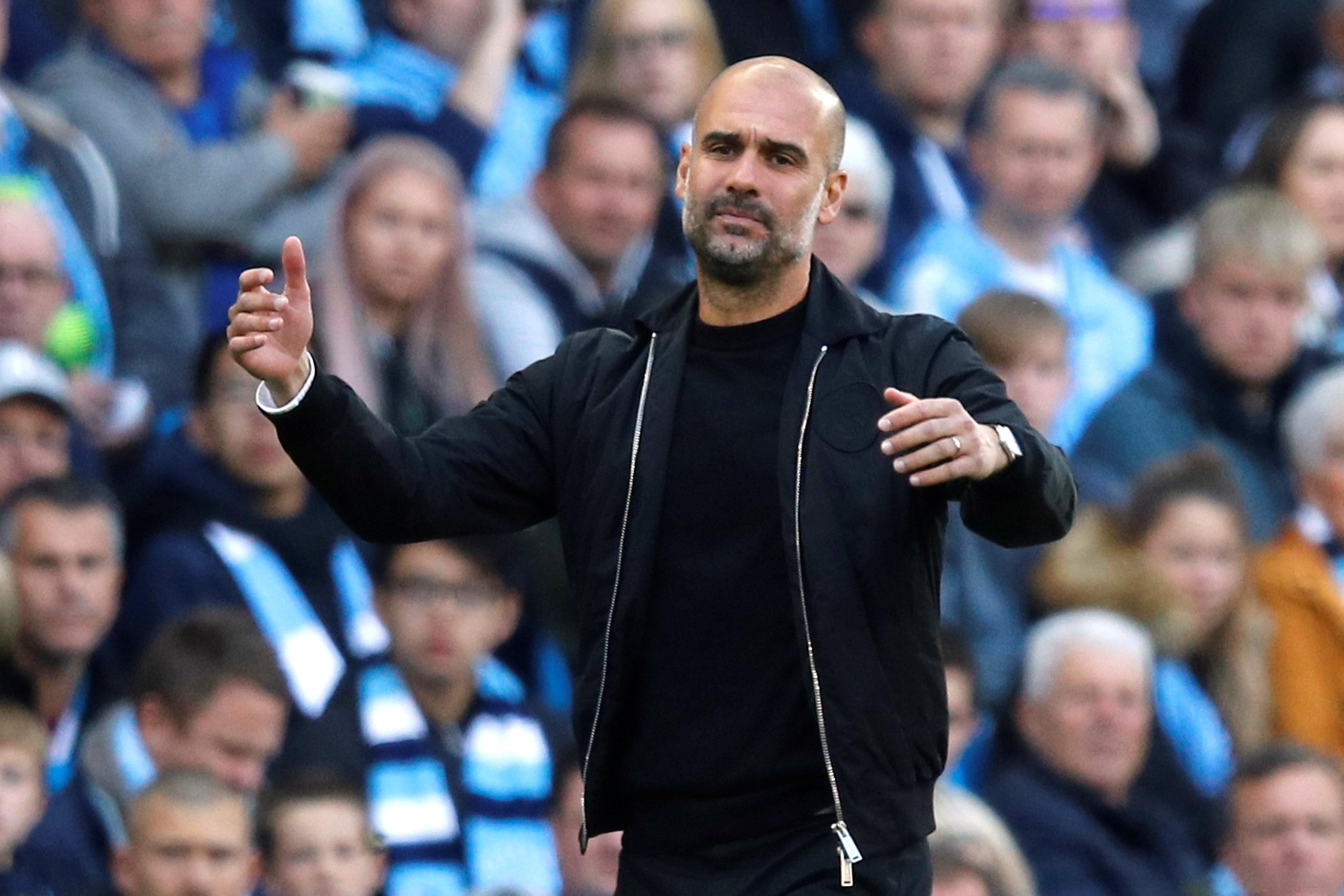 Pep's angry face
