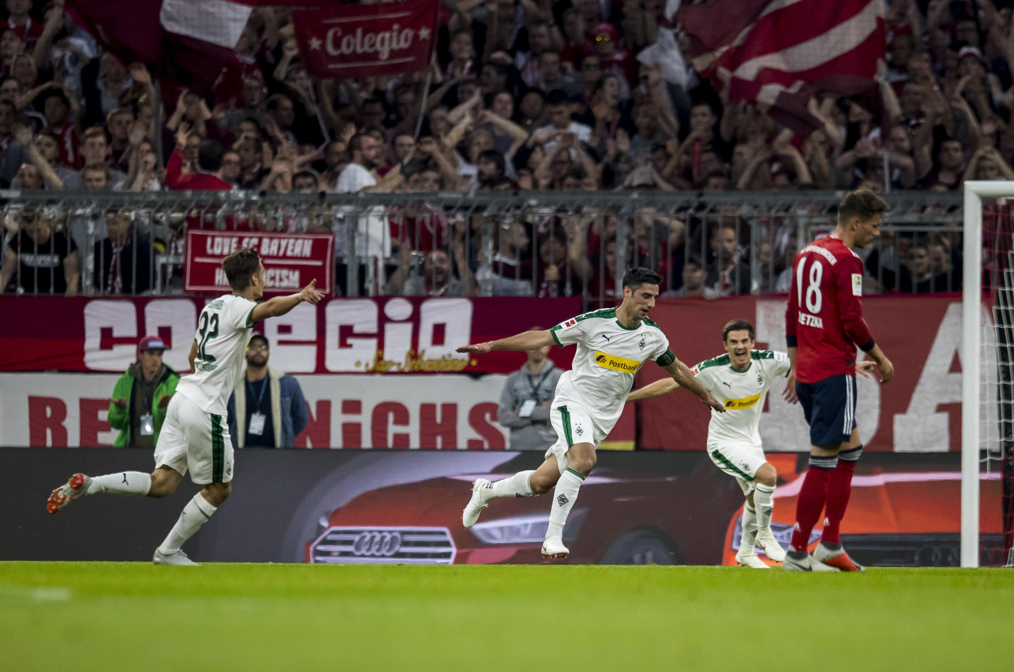 Monchengladbach battered Bayern 3-0 at the weekend