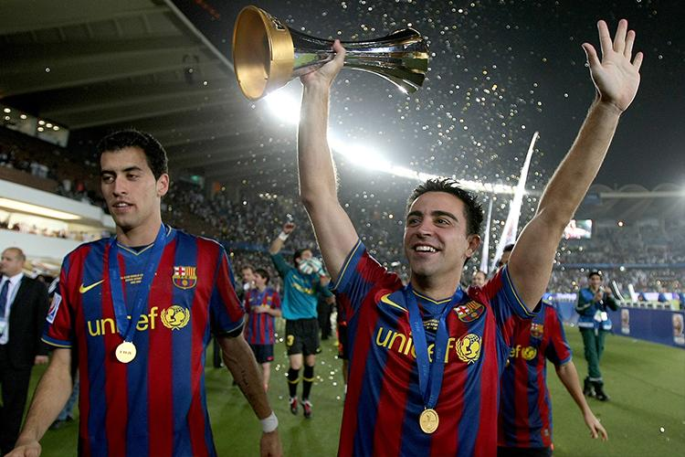 If Xavi drops that trophy Busquets will be there to catch it