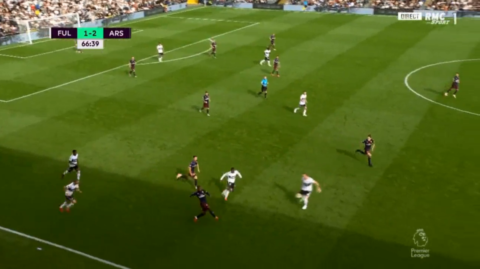 The Welshman moved it to Alexandre Lacazette who knocked it forward to the overlapping full-back
