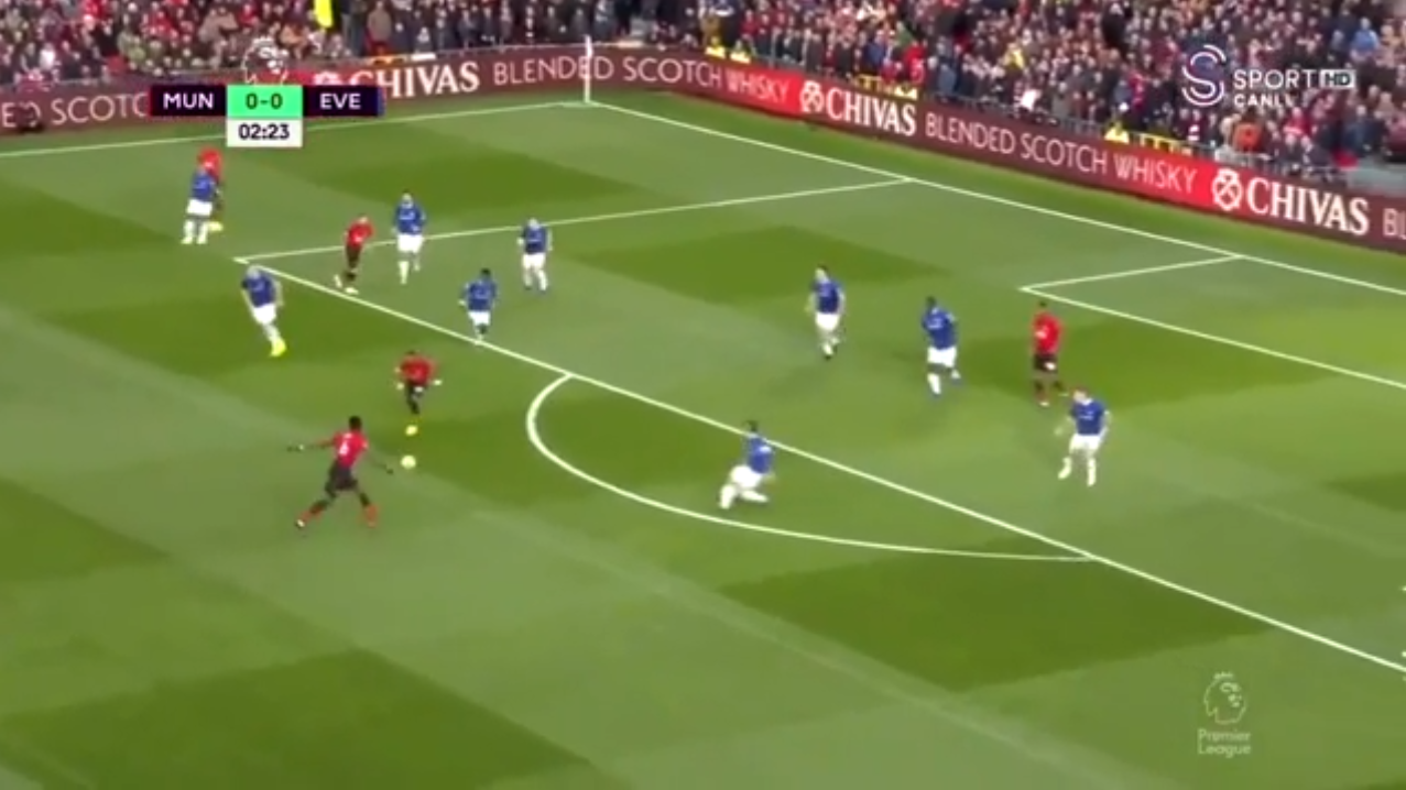 Time almost went in slow-motion as the Frenchman lined up his bouncing strike