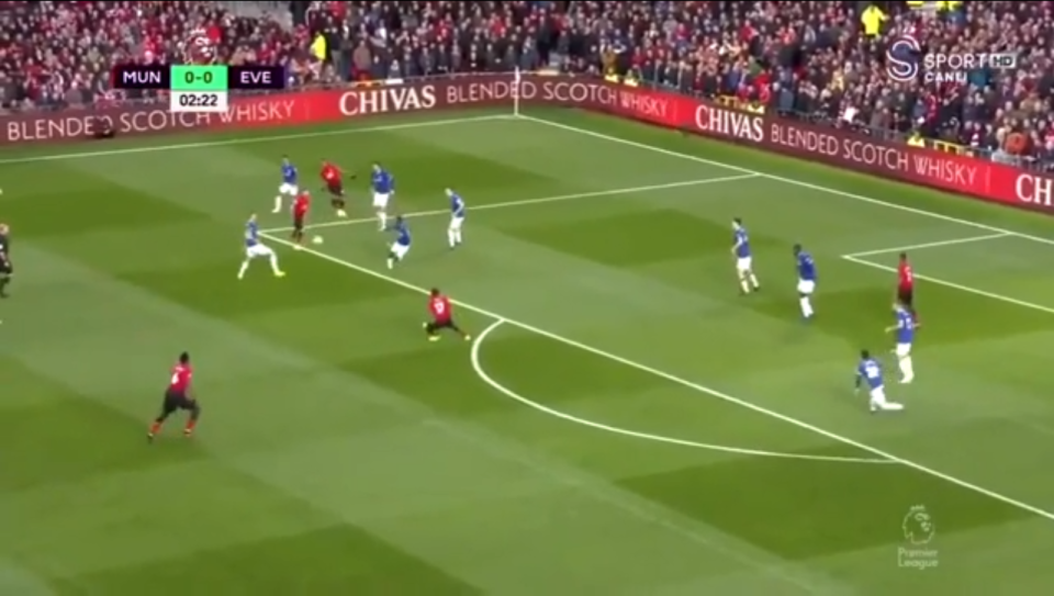 Anthony Martial did well and slid a ball into the path of Pogba