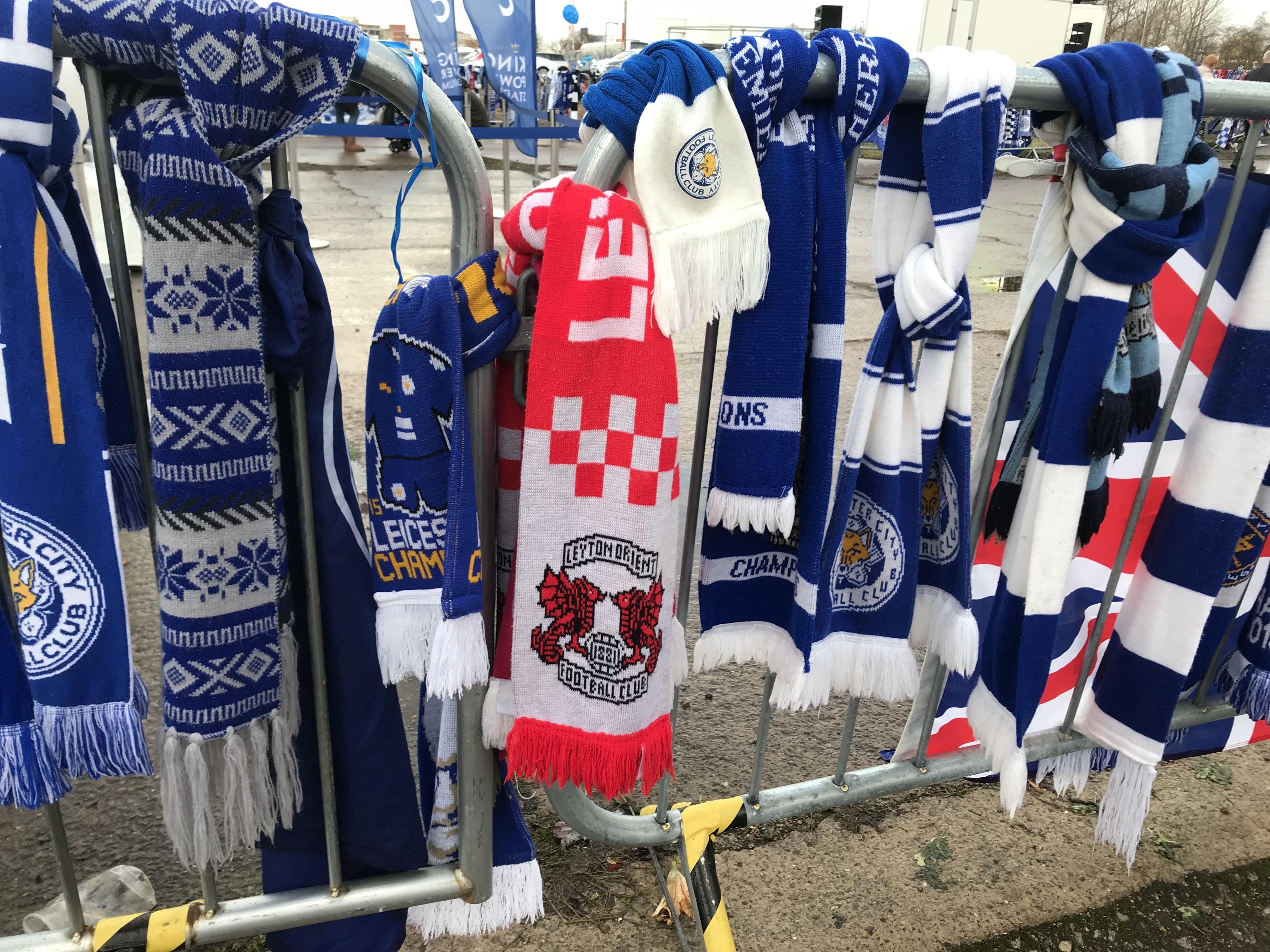 A Leyton Orient scarf could be seen in the sea of blue