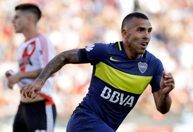Carlos Tevez plays for Boca Juniors