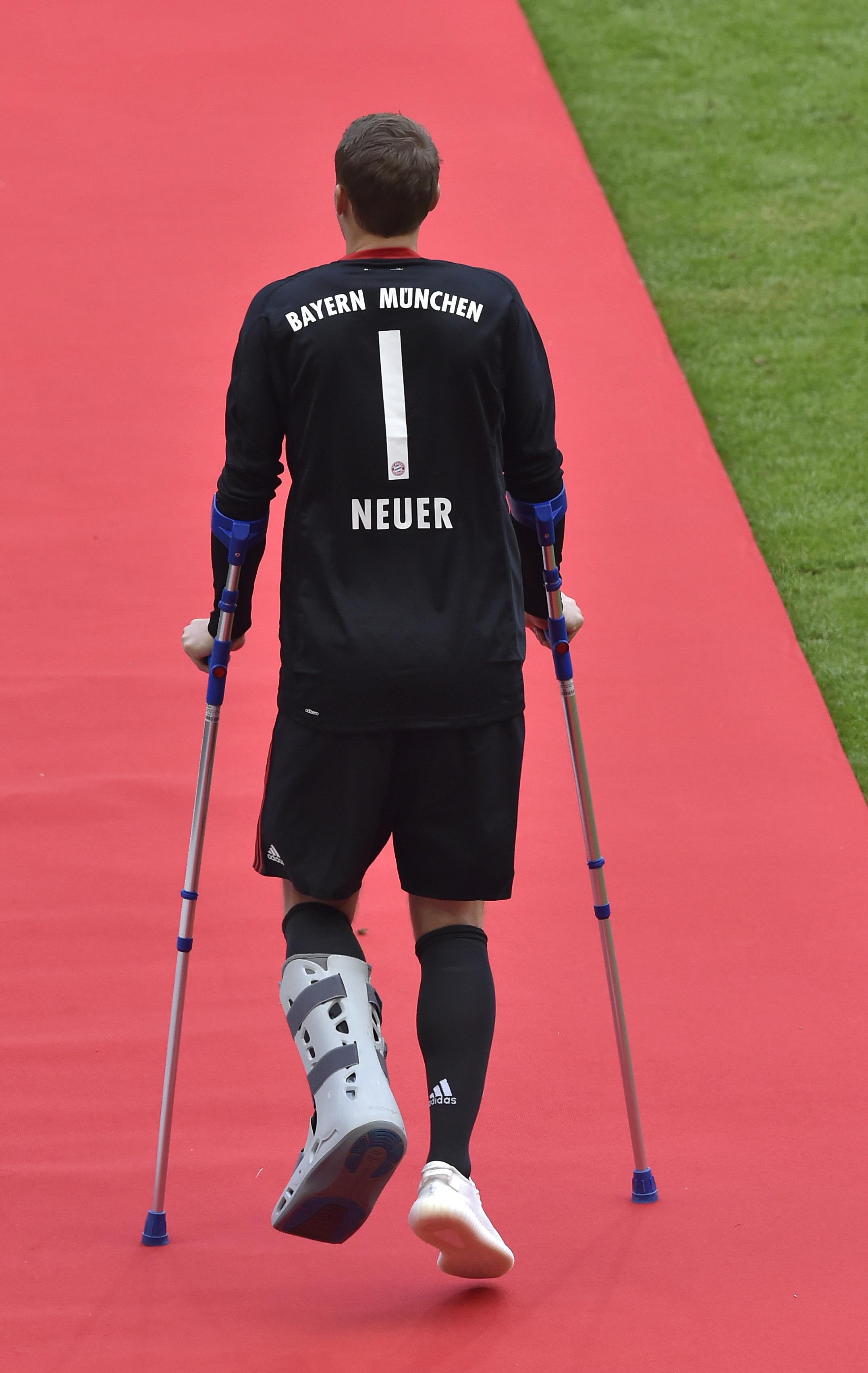 Neuer's foot injury kept him out of the majority of last season