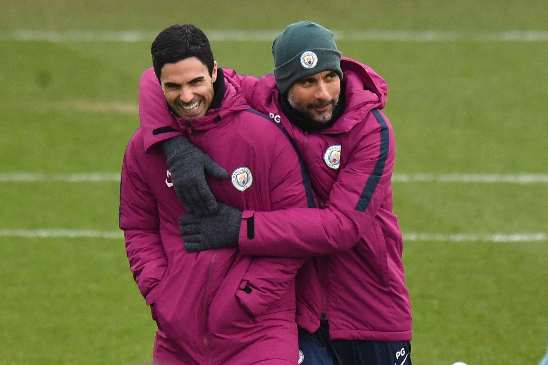 Arteta is now working alongside his childhood hero Pep Guardiola