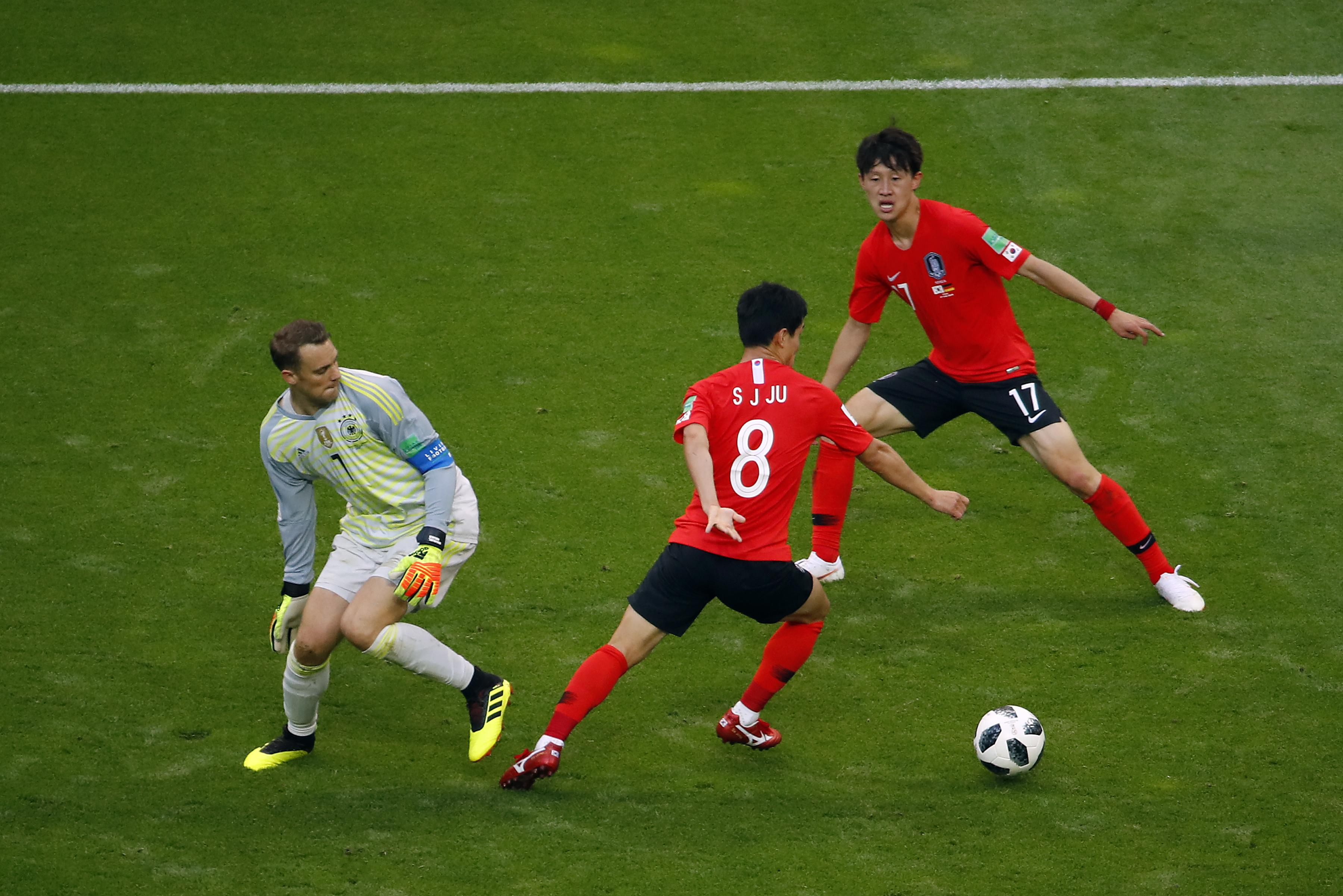 Neuer lost the ball in the dying moments against Korea