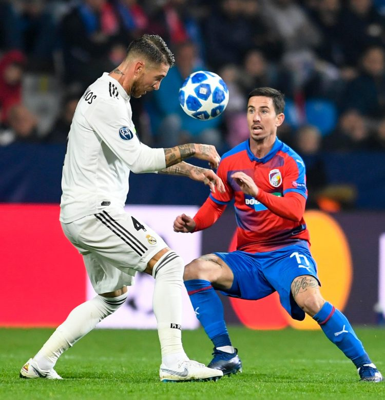 Ramos doesn't merely head the ball, he punishes it