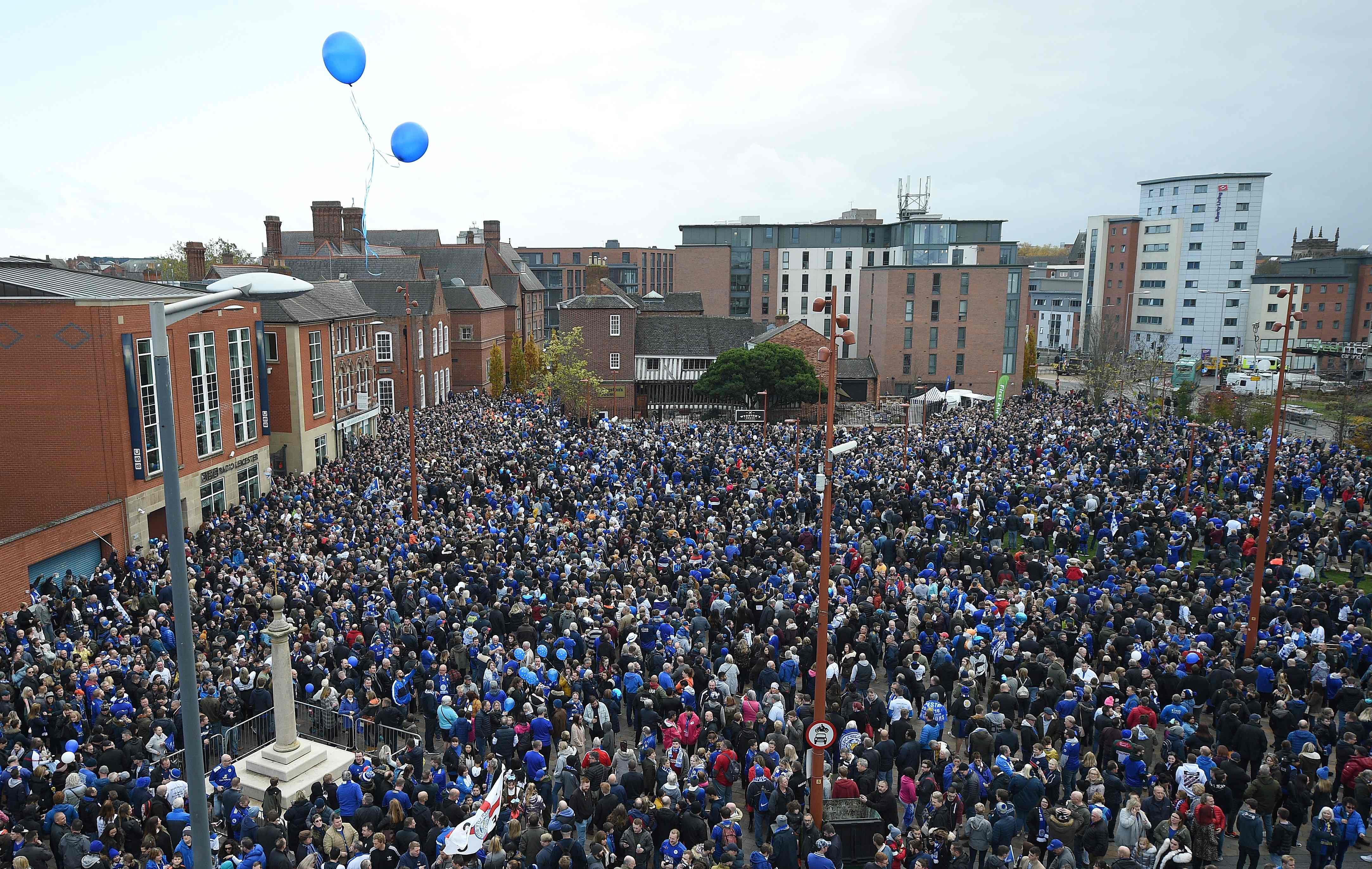 Just shy of the entire capacity of the King Power were present at the memorial walk