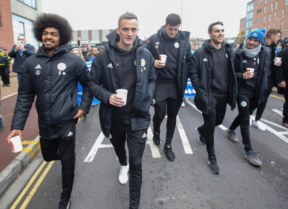 Those who weren't in the squad took part in the walk