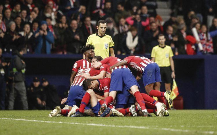 Scenes when the captain scored