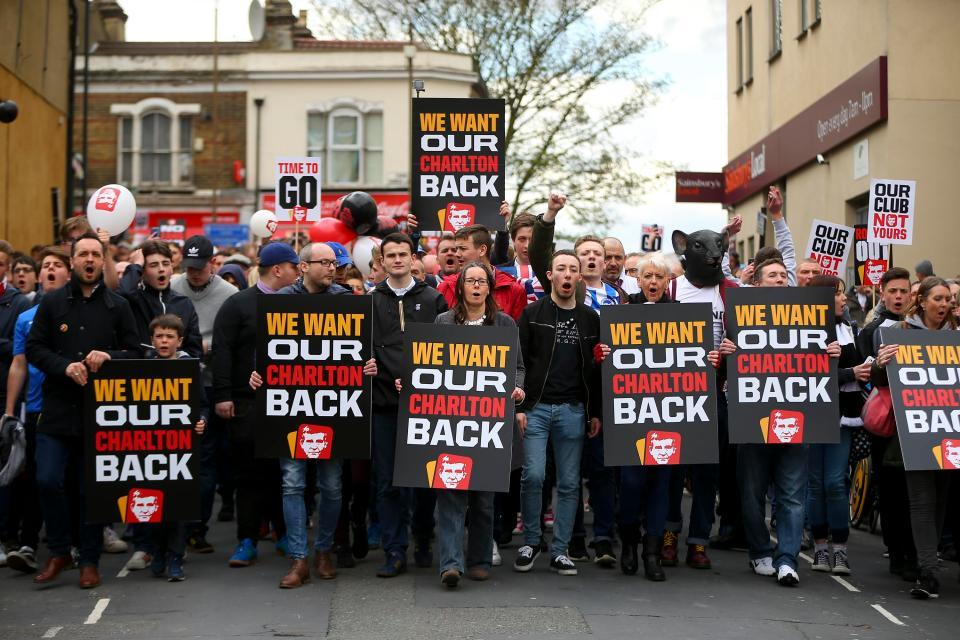 Charlton are an example of a club going to ruin under poor ownership