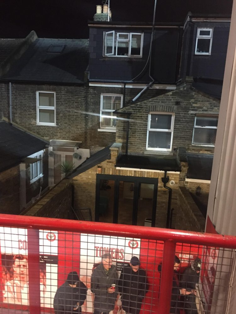 Griffin Park is literally in someone's back garden
