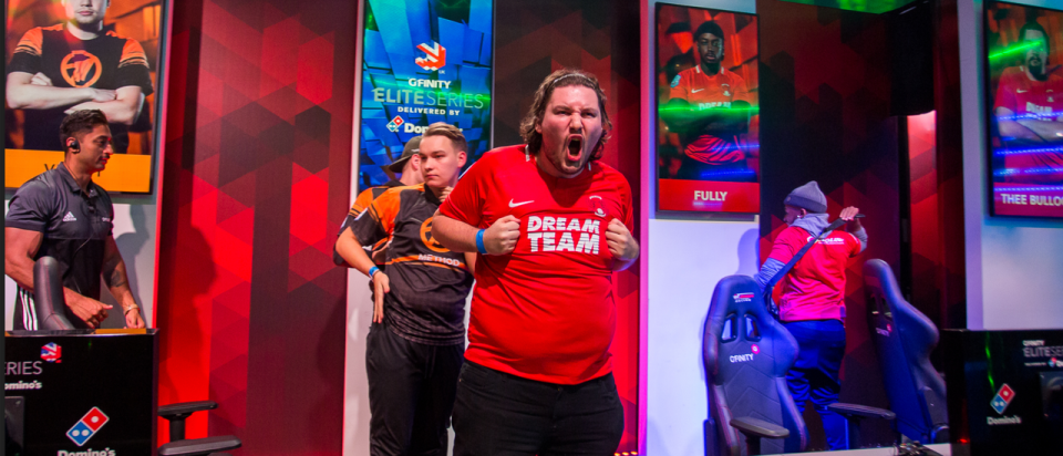Thee Bullock in action for Dream Team Gaming in the Gfinity Elite Series Delivered by Dominos