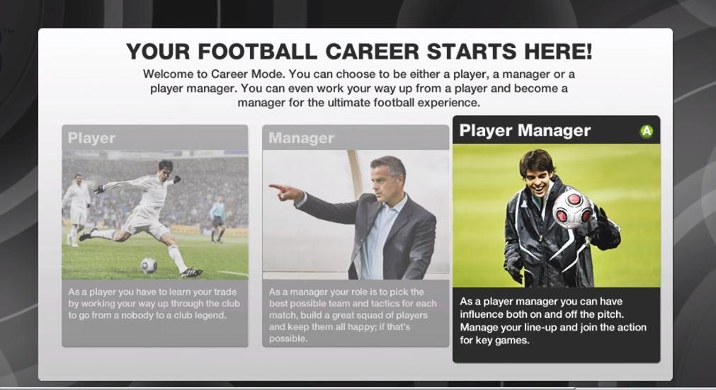 Playing as a player / manager? Yes please!
