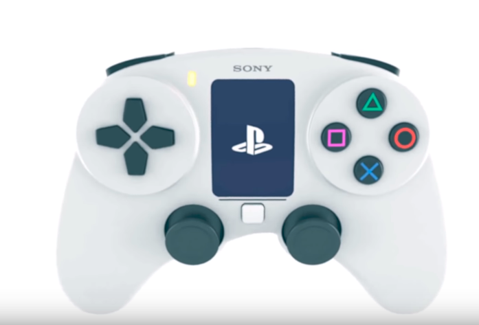 A concept PS5 controller with a built-in screen