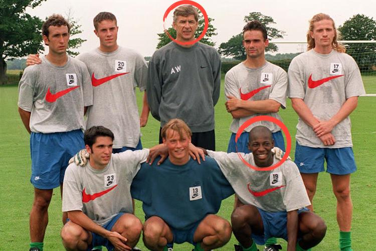 Wenger, Boa Morte and a few bloody lads in 1997