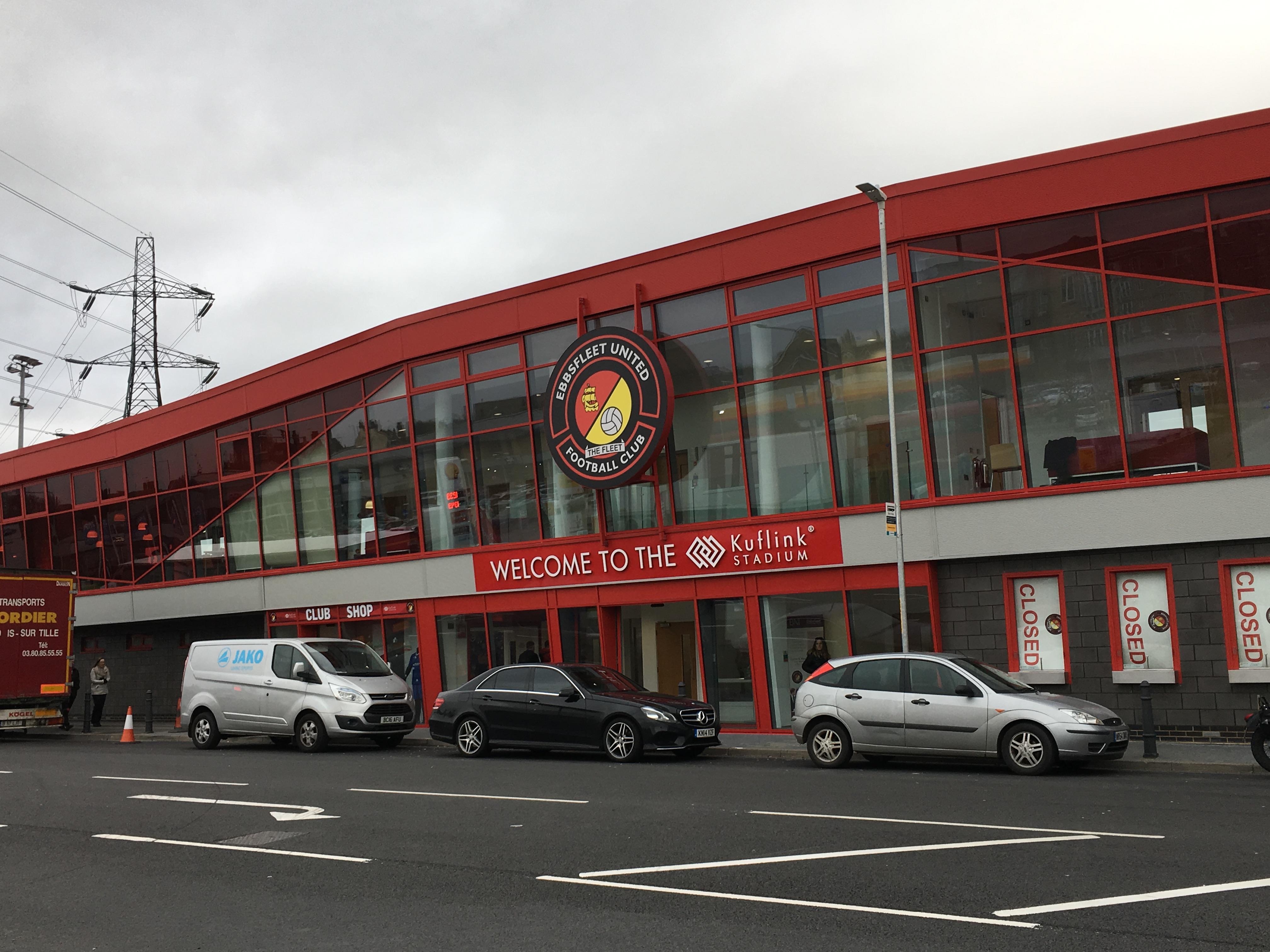 Ebbsfleet's new Stonebridge Road stand looks stunning from the outside