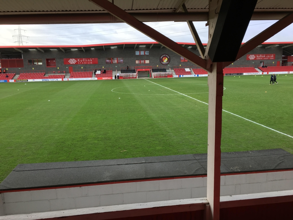 The view of the pitch two hours before kick-off