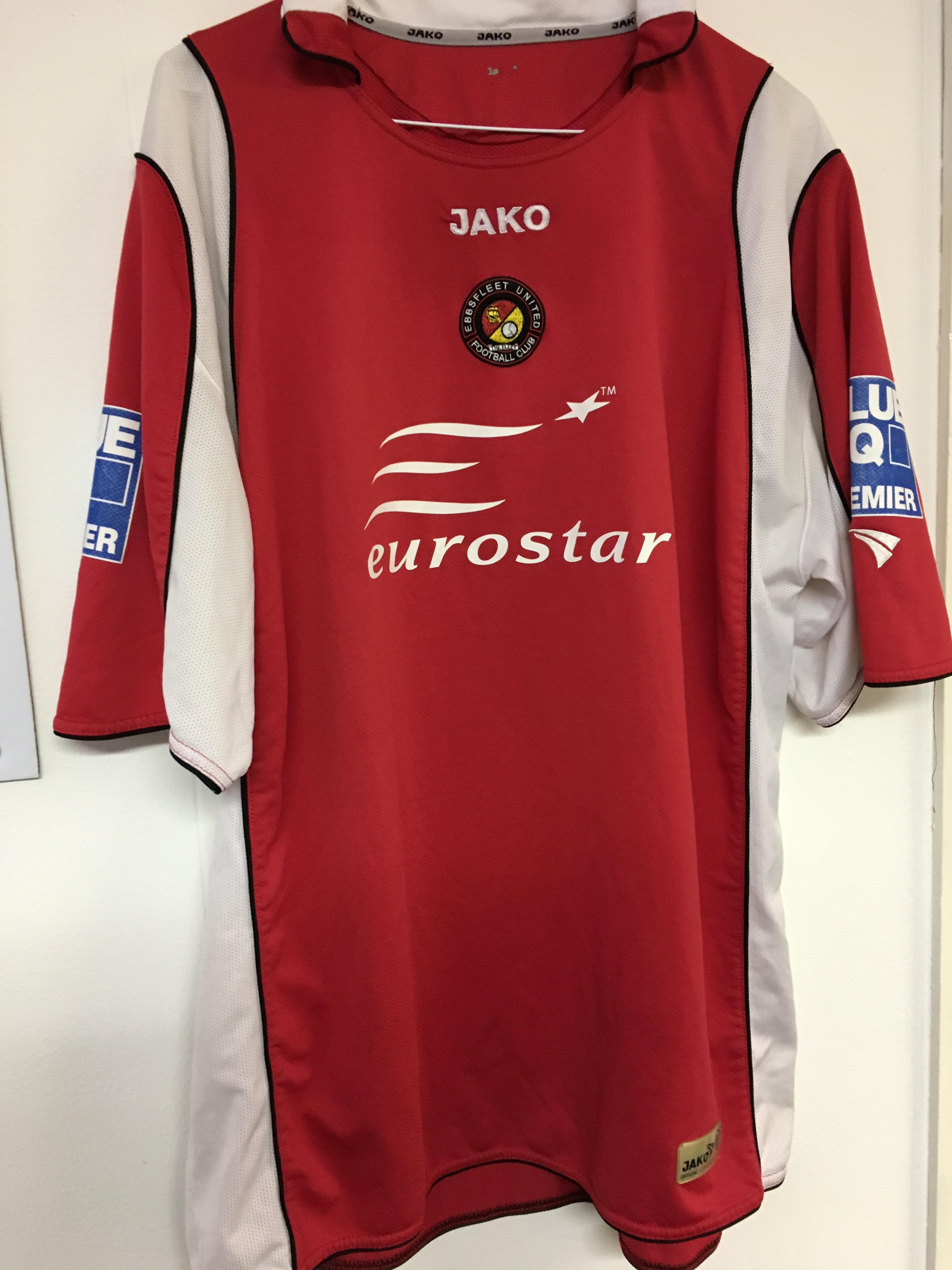 Eurostar was Ebbsfleet's shirt sponsor between 2007 and 2011
