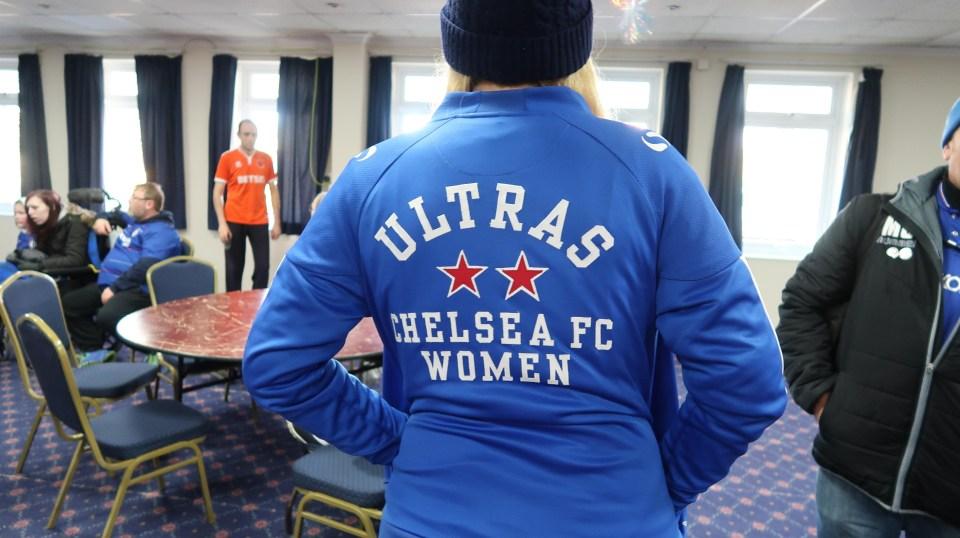 Effy posing in her Ultras gear