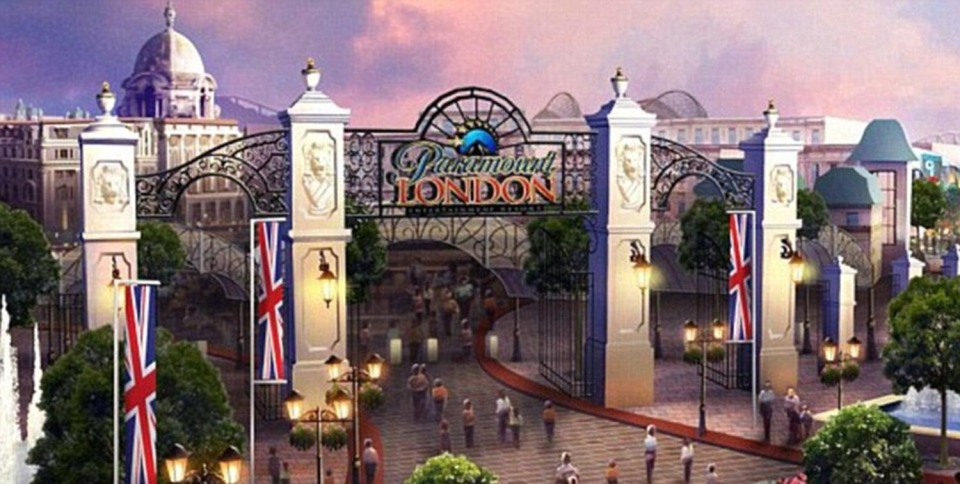 Early concept art of the theme park