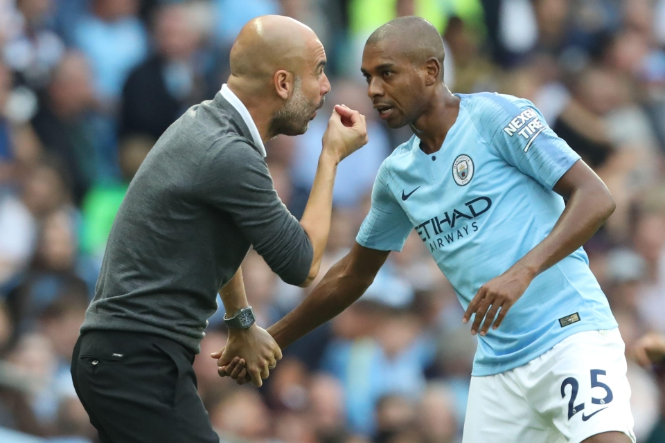 Fernandinho is one of Pep's leaders on the pitch