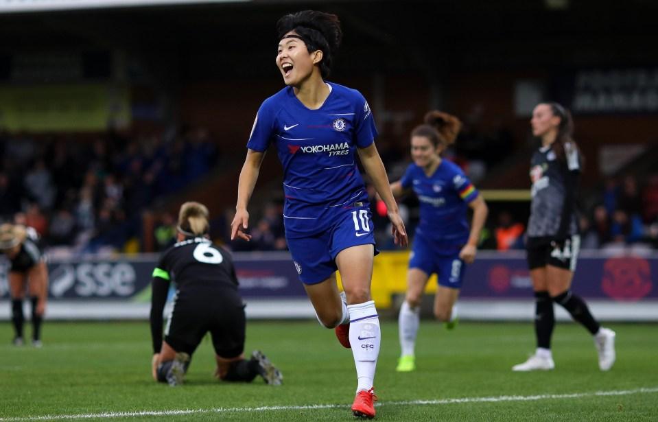 Ji celebrates the winner