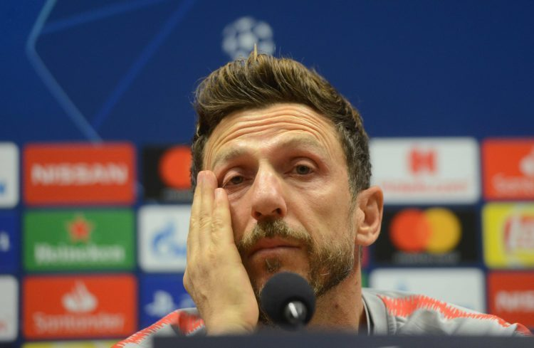 Eusabio Di Francesco's face says it all