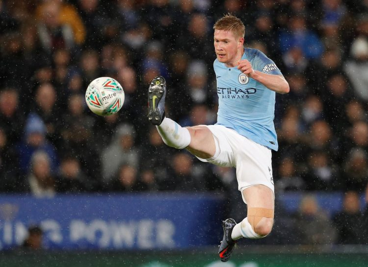De Bruyne in action against Leicester