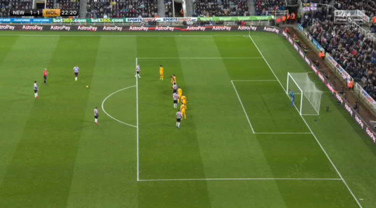 Lovely position for a free-kick