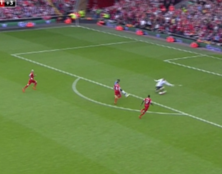 Ba's strike was straight at the keeper who allowed it to easily sail under his legs