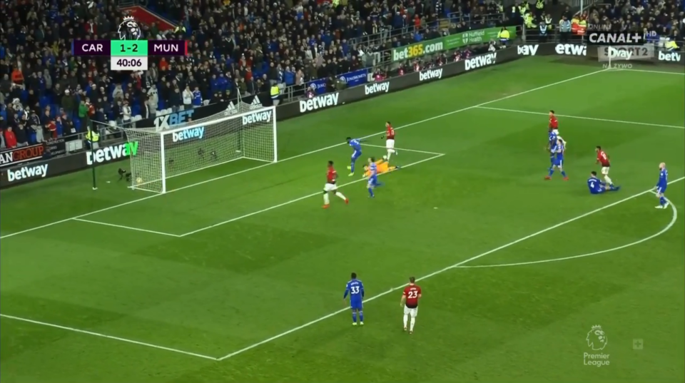 Martial slotted past Neil Etheridge into the far corner with aplomb