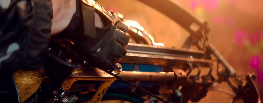 The saw-blade crossbow gun hybrid is a great example of refurbished weaponry in Far Cry New Dawn