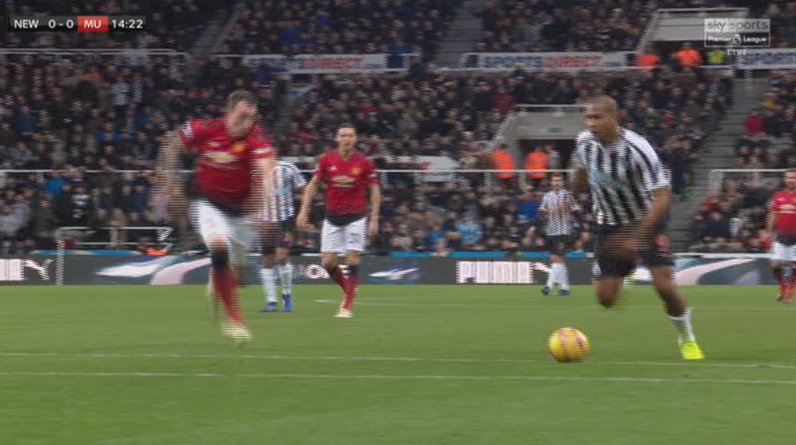 Rondon is through on goal and looking to score