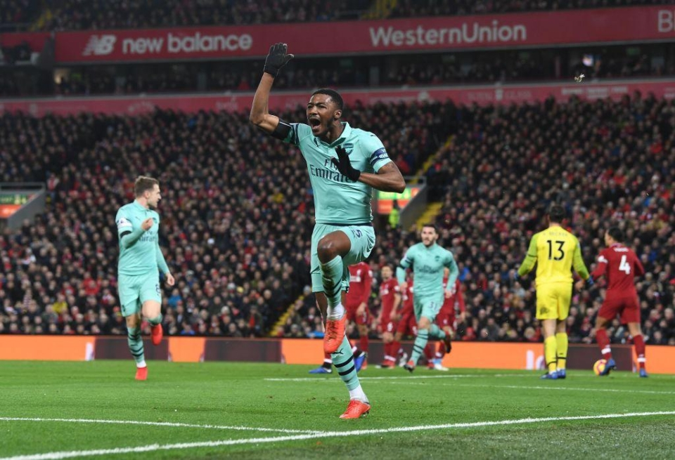 He netted the opening goal in Arsenal's defeat at Anfield in December