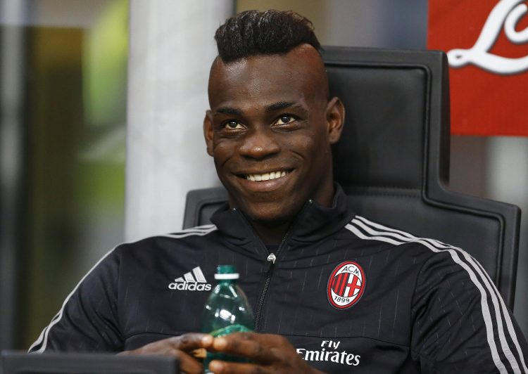 Balotelli wearing the AC Milan colours legitimately