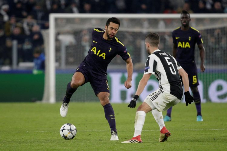 One of the few times the ball wasn't glued to the side of Dembele's left foot