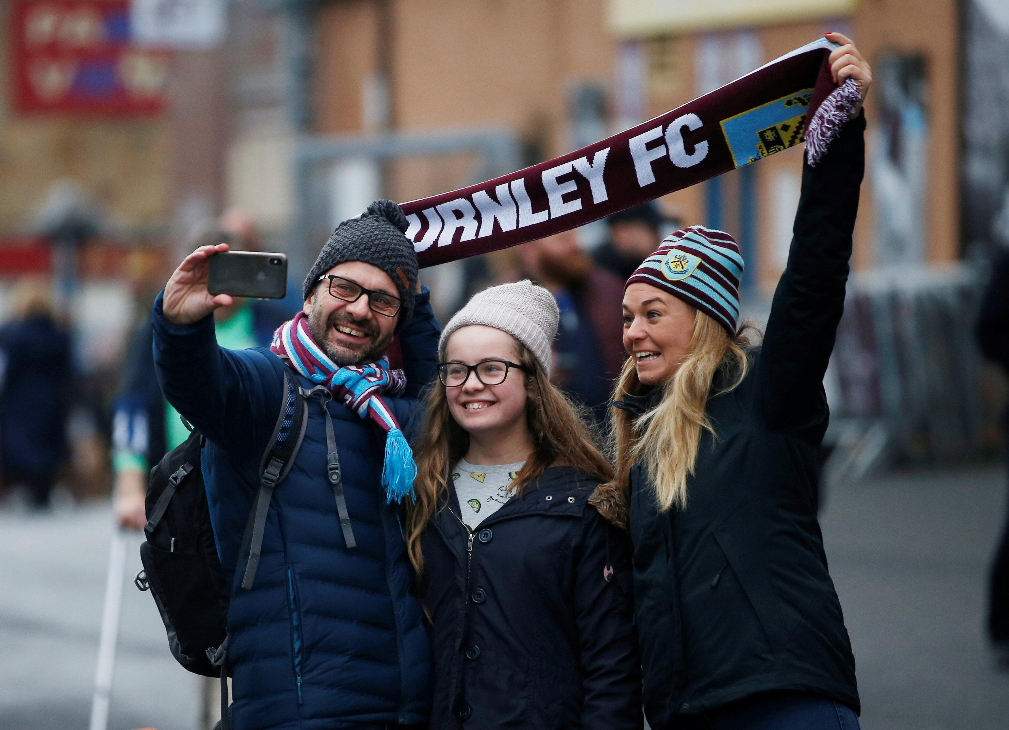 Burnley fans seems quietly content, despite their poor away from in recent seasons