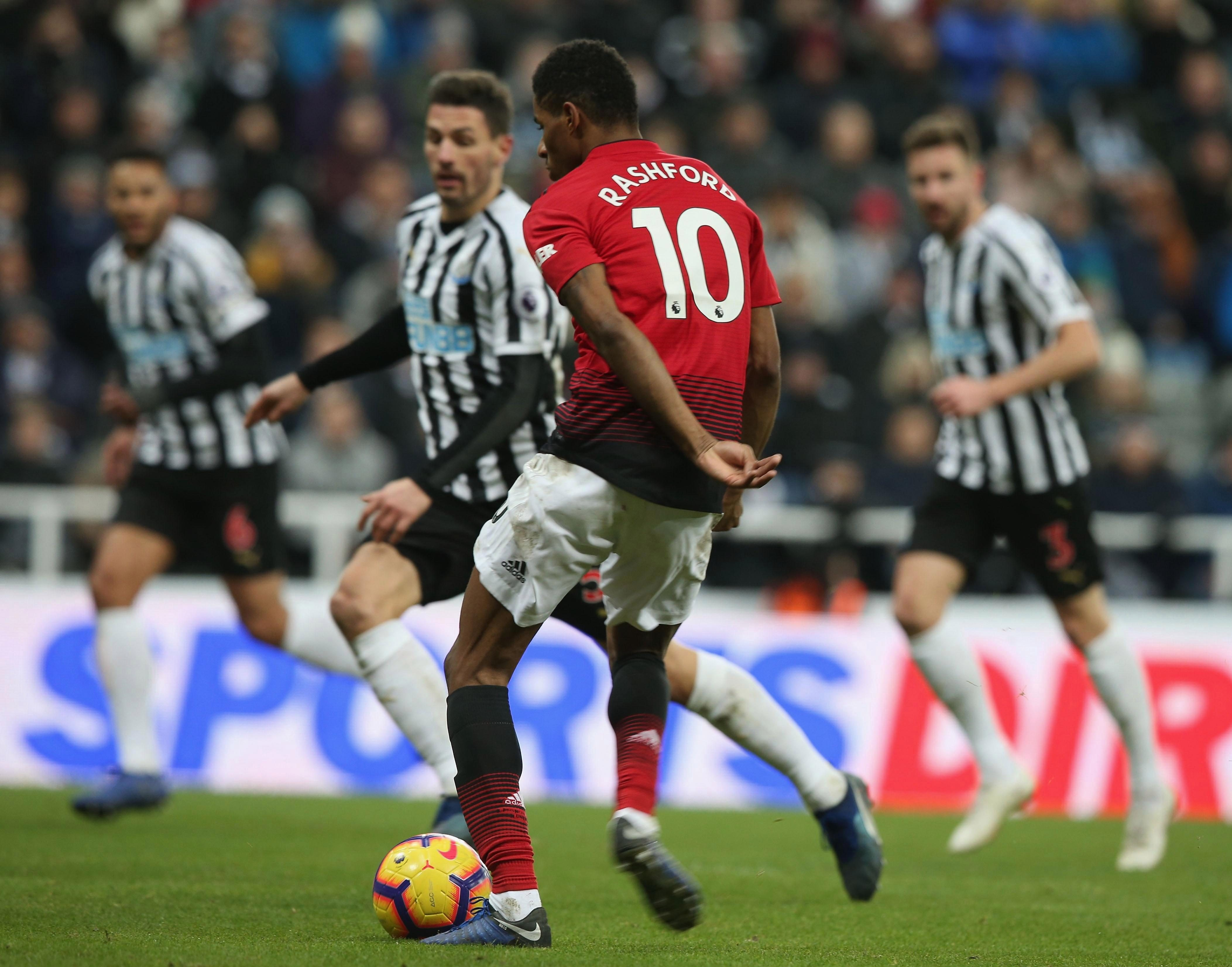 Rashford has spoken publicly about the finishing practice he's received under his new manager