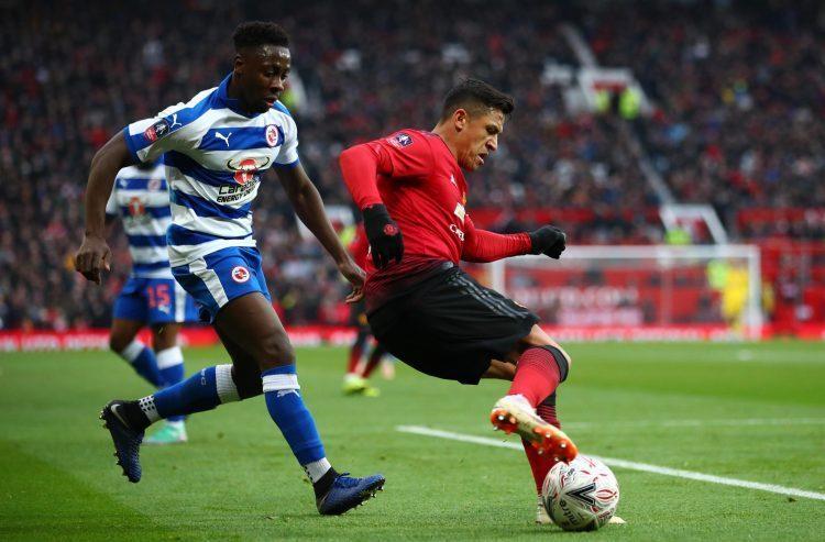 Sanchez in action against Reading