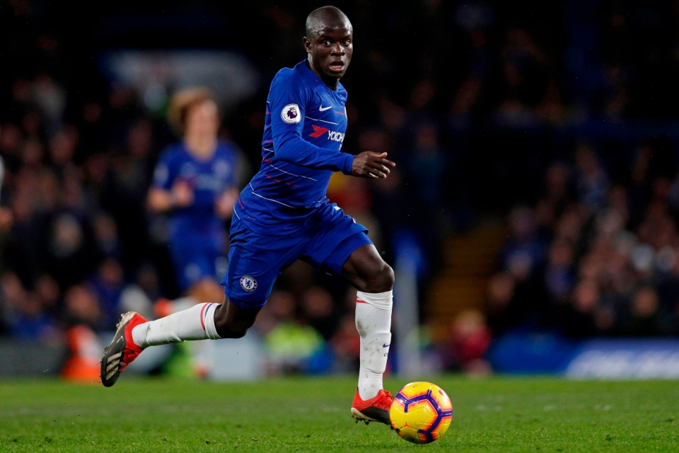 Kante is being played out of position