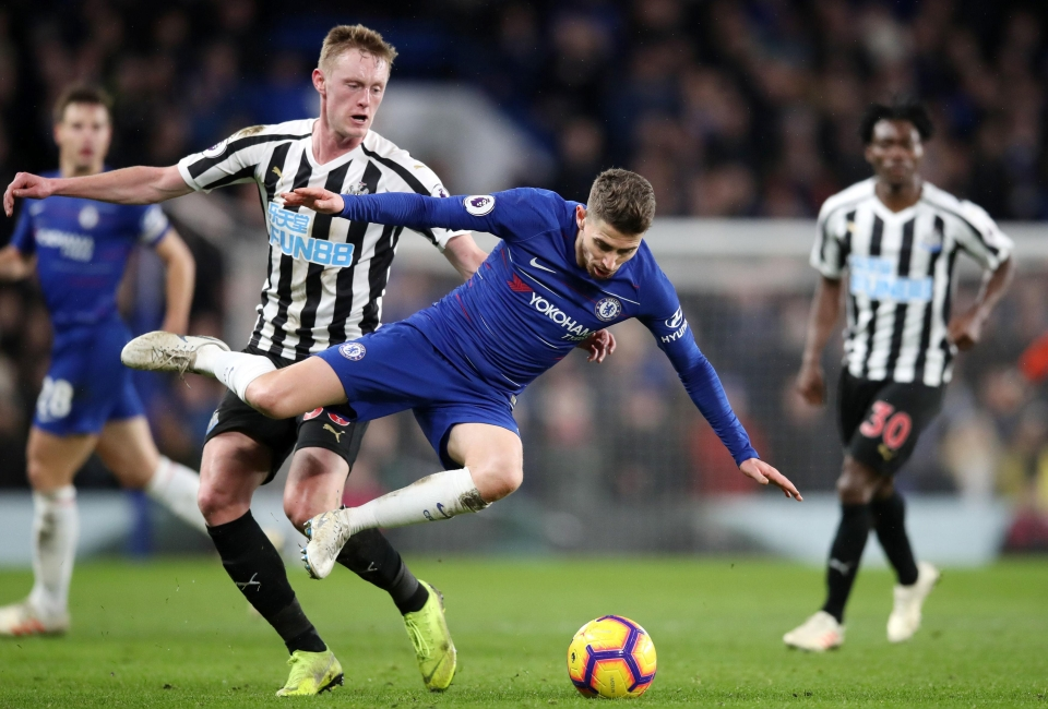 Jorginho was booed and jeered by some Chelsea fans during their match against Newcastle