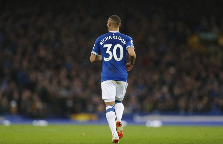 Everton's number 30 has also been fouled 50 times