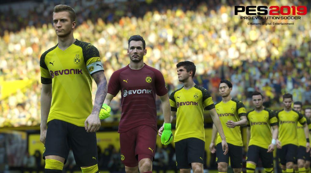 Borussia Dortmund were set to appear in PES 2019 but switched to EA's game at the last minute
